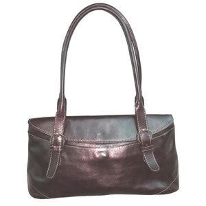 Prüne Brown Leather Satchel